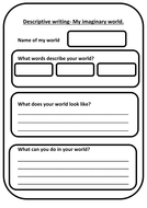 Descriptive writing template (imaginary world) by sarahmaylord ...