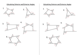 Printables Interior And Exterior Angles Of Polygons Worksheet interior and exterior angles of polygons by clairelogan100 int ex pptx calculating doc