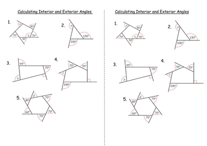 Interior and exterior angles of polygons by clairelogan100 - Define exterior angle of a polygon ...