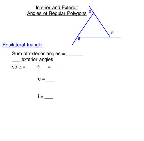 Interior and Exterior Angles of Polygons by clairelogan100 – Interior Angles of a Polygon Worksheet