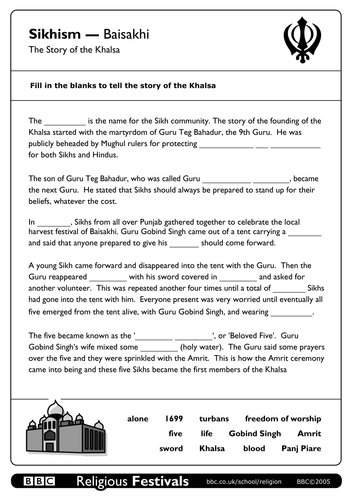 Vaisakhi by kgill123 - Teaching Resources - Tes