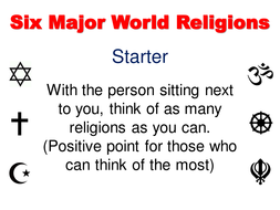 World Religions Research Task