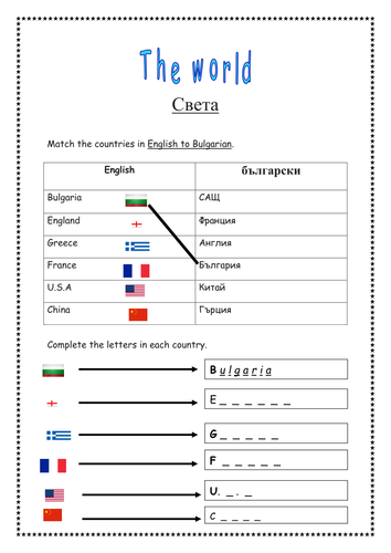beginner EAL introduction to countries and maps by