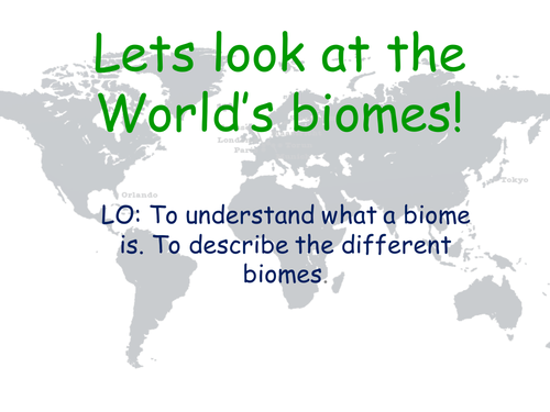 Biomes Lesson by georginamindham Teaching Resources Tes – Biomes of the World Worksheet