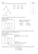 7th Grade Ratio Worksheets Hcf And Lcm By Gcwind  Teaching Resources  Tes Fractions Worksheets Grade 2 with Volume And Surface Area Worksheets Grade 8 Pdf Worksheet Hcf And Lcm Free Printable 5th Grade Worksheets Excel
