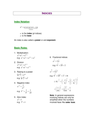 Review on Indices