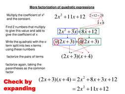 Factorizing quadratics with co-efficient>1