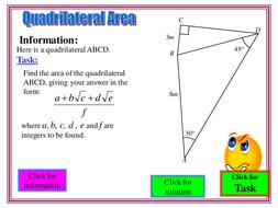 Quad Area Using Double Angle Formulae