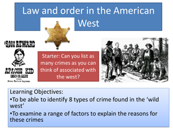 Law and Order in the American West