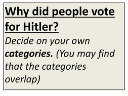 Card sort: why did people vote for Hitler?