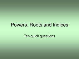 Powers roots and indices.ppt