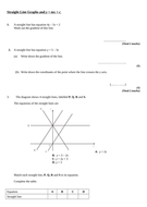 y = mx + c   harder questions