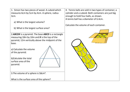 Review questions Pyramids cones and spheres 2.docx