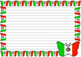 Mexican Flag Themed Lined paper (Landscape).pdf