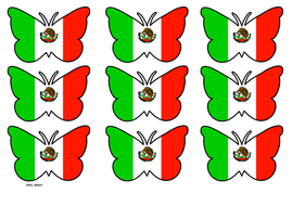 Butterfly Themed Mexican Flag (3x3).pdf