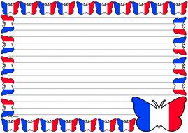 France Flag Themed Lined paper (Landscape).pdf