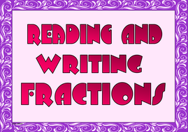 Reading and Writing Fractions
