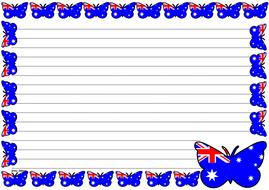Australian Flag Themed Lined paper (Landscape).pdf