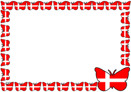 Denmark Flag Themed Lined paper and Pageborders