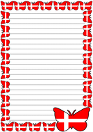 Denmark Flag Themed Lined Paper (Portrait).pdf