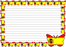 Spain Flag Themed Lined paper (Landscape).pdf