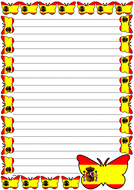Spain Flag Themed Lined Paper (Portrait).pdf
