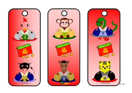 Chinese Year Signs Themed Bookmark