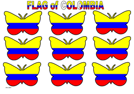 Butterfly Themed Colombia Flag (3x3).pdf