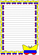 Colombia Flag Themed Lined Paper (Portrait).pdf