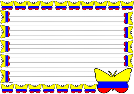 Colombia Flag Themed Lined paper (Landscape).pdf