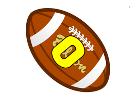 American Football Themed Numbers 0-50