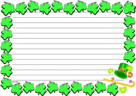 St. Patrick's Day Themed Lined Paper (Landscape).pdf