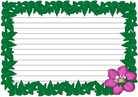 Spring Time Themed Lined Paper and Pageborders