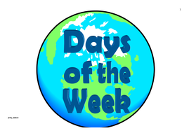 Earth Day Themed Days of the Week