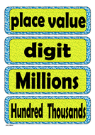 Grade 4 - Word Wall (Whole Numbers &Place Value)