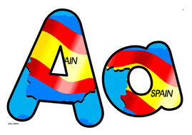 Spain Flag Themed Alphabets and Numbers.pdf