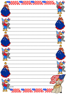 Flag Day Themed Lined Paper (Portrait).pdf