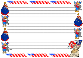 Flag Day Themed Lined Paper (Landscape).pdf