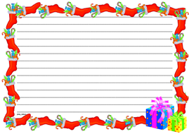 Christmas Themed Lined Paper (Landscape) BW.pdf