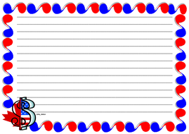 Dollar Sign Themed Lined Paper and Pageborder