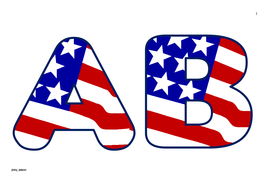 American Flag  Themed Upper Case Alphabet and Numbers.pdf