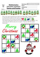 Christmas Themed Shape Sudoku (4x4)