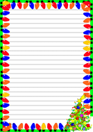 Christmas Lights Themed  Lined Paper (Portrait).pdf