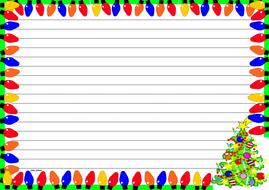 Christmas Lights Themed Lined paper (Landscape).pdf