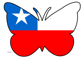 Butterfly Themed Chile Flag