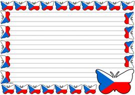 Czech Republic Flag Themed Lined paper (Landscape).pdf