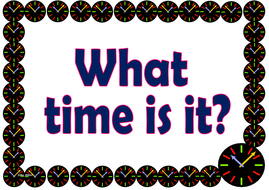 Grade 2 - What Time Is It (The 12-Hour System)
