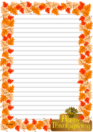 Thanksgiving Day Themed  Lined Paper Portrait (3).pdf