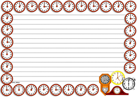 Face of the Clock Themed Lined paper (Landscape).pdf