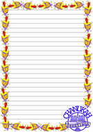 Chanukah Day Themed  Lined Paper (Portrait).pdf